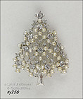 EISENBERG ICE � FAUX PEARL AND RHINESTONE CHRISTMAS TREE PIN