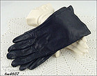 VINTAGE BLACK LEATHER GLOVES SIZE 7