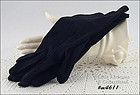 VINTAGE BLACK GLOVES SIZE 6