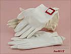 VINTAGE WHITE GLOVES WITH FAUX TORTOISE BUCKLE SIZE 7