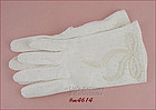 VINTAGE BEADED BOW WHITE GLOVES SIZE 7