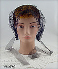 VINTAGE BLACK NETTING HAIR BONNET
