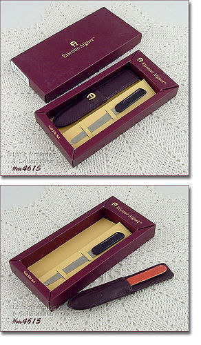 VINTAGE ETIENNE AIGNER NAIL FILE SET IN ORIGINAL BOX