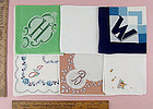 CHOICE OF VINTAGE MONOGRAM HANDKERCHIEFS MONOGRAMS H, M, W, J, B, V