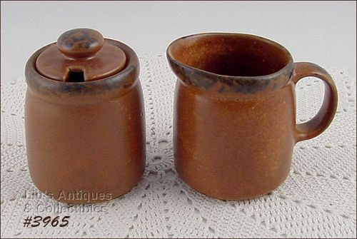 McCOY POTTERY � CANYON CREAMER AND COVERED SUGAR