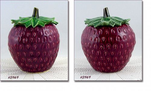 McCOY POTTERY � DIFFICULT TO FIND STRAWBERRY COOKIE JAR