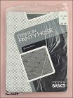 VINTAGE TREND BASICS PANTYHOSE BLACK WITH WOVEN DESIGN