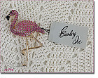 EISENBERG ICE � DIFFICULT TO FIND PINK FLAMINGO PIN
