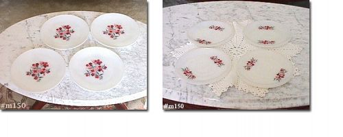 FIRE KING -- PRIMROSE PLATES AND SAUCERS (4 EACH)