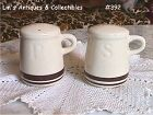 McCOY POTTERY -- STONECRAFT SALT AND PEPPER SHAKERS