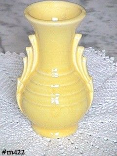 "VINTAGE POTTERY -- SUNNY YELLOW VASE (4 1/2"")"