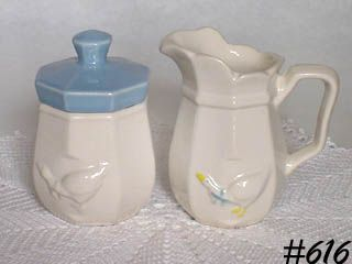 McCOY POTTERY -- COUNTRY ACCENTS CREAMER AND SUGAR