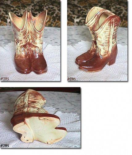 McCOY POTTERY -- COWBOY BOOTS VASE