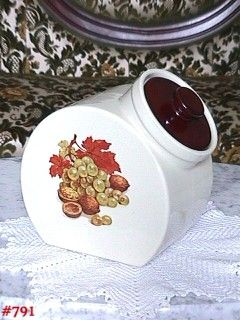 McCOY POTTERY -- FRUIT FESTIVAL TILT COOKIE JAR OR CANISTER