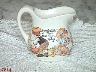 McCOY POTTERY -- HAPPY TIME (SMALL CREAMER)