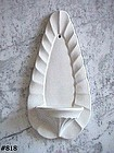 McCOY POTTERY -- VINTAGE MINT CONDITION WHITE WALL SCONCE
