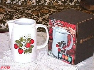 McCOY POTTERY -- STRAWBERRY COUNTRY PITCHER (IN BOX!)