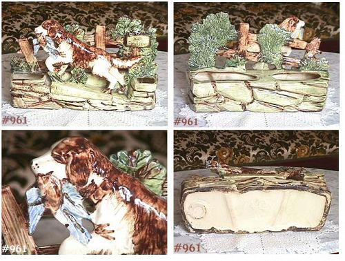 McCOY POTTERY -- BIRD DOG PLANTER (NO HUNTING)