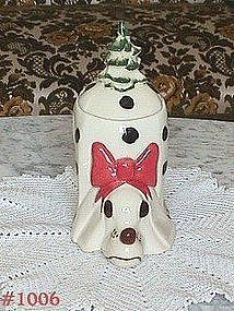 McCOY POTTERY -- MAC II CHRISTMAS COOKIE JAR