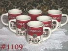 McCOY POTTERY -- CAMPBELL'S SOUP CUPS/MUGS (6)