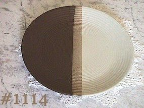 McCOY POTTERY -- SANDSTONE CHOP PLATE