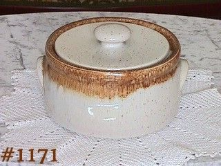 McCOY POTTERY -- GRAYSTONE COVERED CASSEROLE