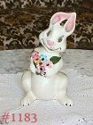 McCOY POTTERY -- BEAMING BUNNY VOTIVE HOLDER
