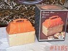 McCOY POTTERY -- LUNCH BOX COOKIE JAR IN ORIGINAL BOX!!