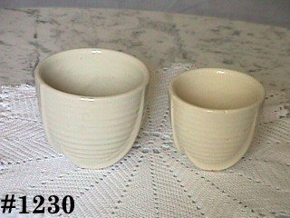 McCOY POTTERY -- SET OF JARDINIERES (WHITE)