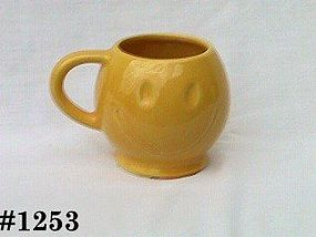 McCOY POTTERY -- SMILE FACE MUG (SUNNY YELLOW)