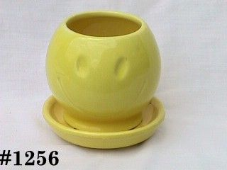 McCOY POTTERY -- SMILE (HAPPY) FACE FLOWERPOT