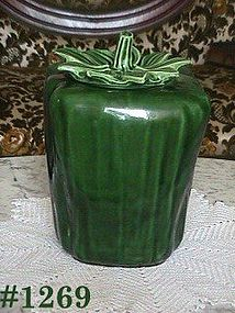 McCOY POTTERY -- GREEN PEPPER COOKIE JAR