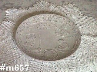 FRANKOMA POTTERY -- AMERICAN BICENTENNIAL PLATE