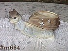 SHAWNEE POTTERY -- SQUIRREL PULLING A NUT (PLANTER)
