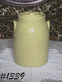 McCOY POTTERY -- OLD FASHIONED MILK CAN COOKIE JAR
