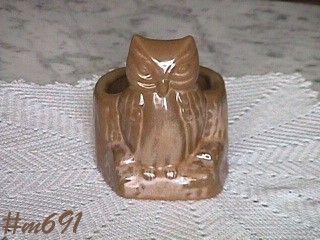 FRANKOMA POTTERY -- OWL PLANTER