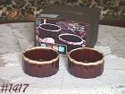 McCOY POTTERY -- TWO BROWN DRIP SOUFFLES IN BOX!