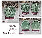 McCOY POTTERY -- CABBAGE SALT AND PEPPER SHAKER SET
