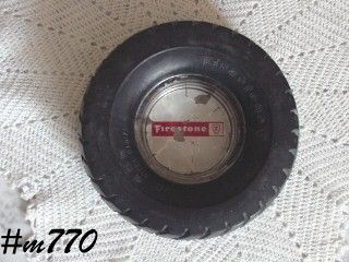 ADVERTISING -- FIRESTONE RUBBER TIRE ASHTRAY