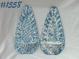 McCOY POTTERY -- BLUE COUNTRY WALL SCONCES (2)