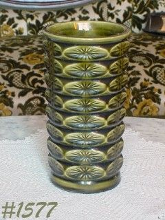 "McCOY POTTERY -- GREEN DIAMOND VASE (8 1/4"")"