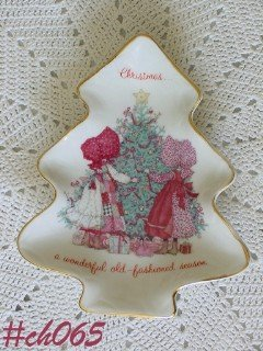 HOLLY HOBBIE PORCELAIN CHRISTMAS TRAY