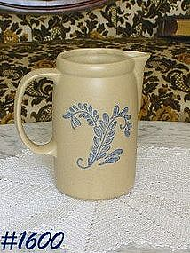 McCOY POTTERY -- BLUE FIELD PITCHER