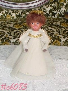 VINTAGE TREE TOPPER -- ANGEL OF COLOR
