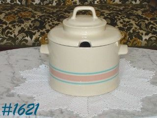 McCOY POTTERY -- STONECRAFT PINK AND BLUE SOUP TUREEN