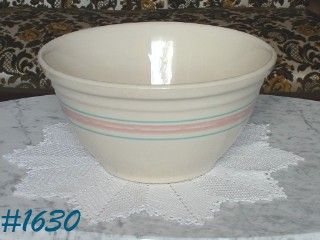 "McCOY POTTERY -- STONECRAFT PINK AND BLUE BOWL (12"")"
