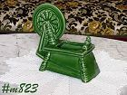 MORTON POTTERY -- SPINNING WHEEL PLANTER (GREEN)