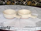 McCOY POTTERY -- STONECRAFT PINK & BLUE CASSEROLES (2)