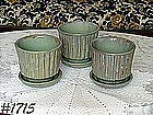 McCOY POTTERY -- THREE MATCHING FLOWERPOTS!!!