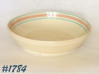 McCOY POTTERY -- PINK AND BLUE SPAGHETTI BOWL